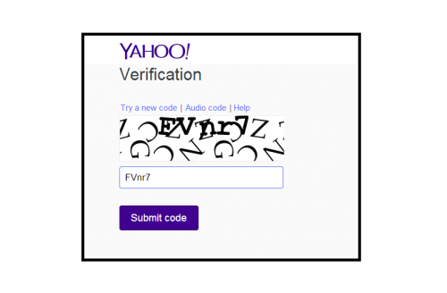 Yahoo Verification